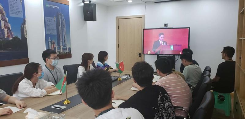 重庆工程公司组织观看集团成立70周年大会直播